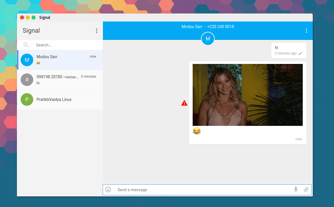Signal Instant Messaging App