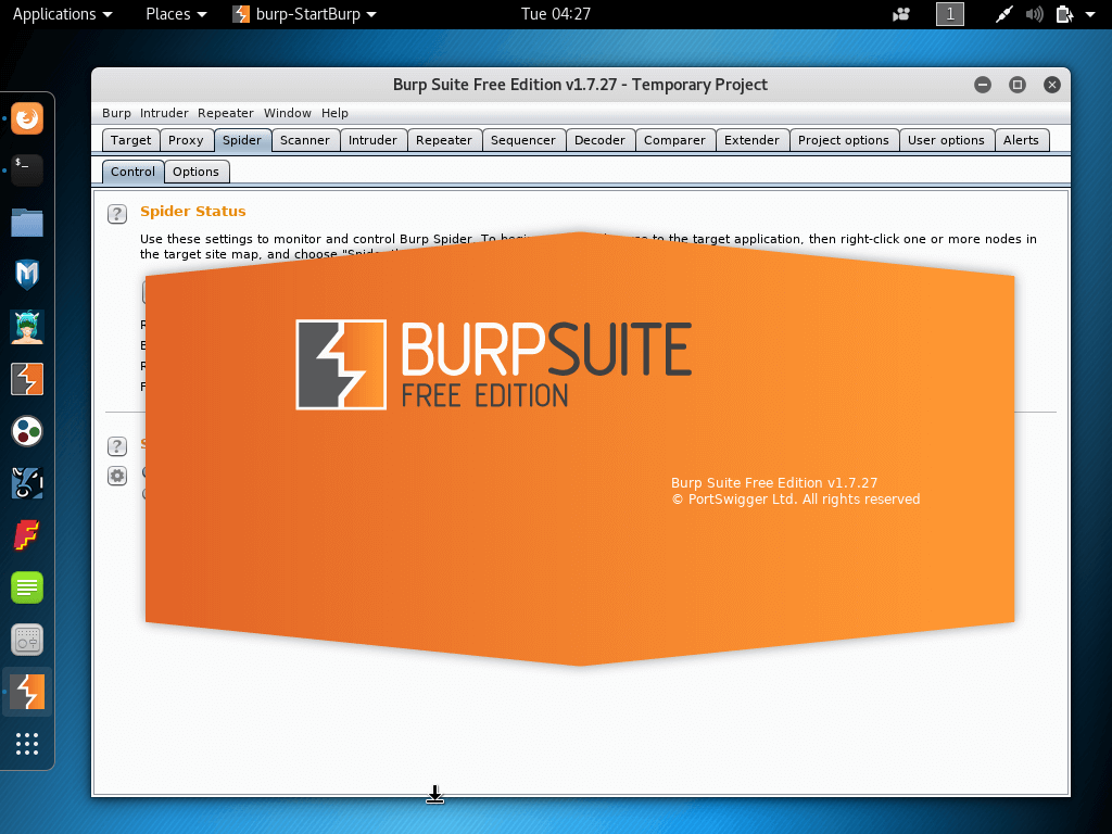 Burp Security Vulnerability Scanner