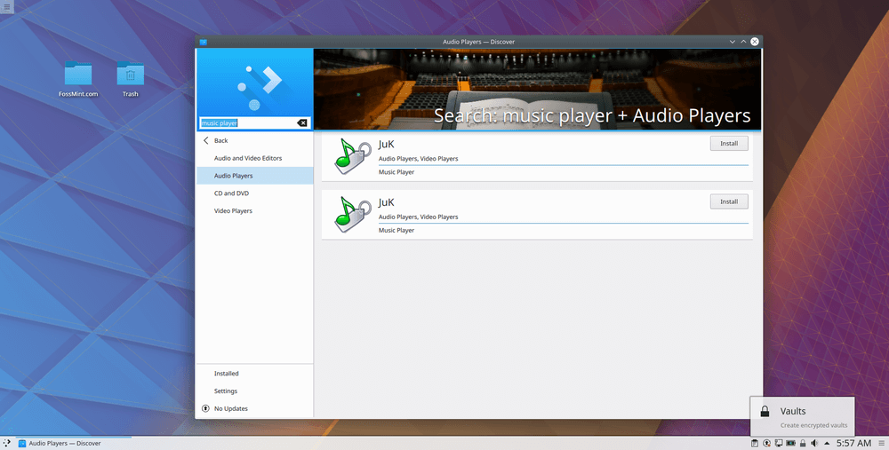 Search Apps in KDE Discover