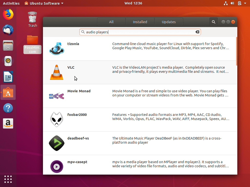 Search Apps in Ubuntu Software