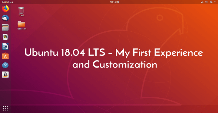 Ubuntu 18.04 Customization