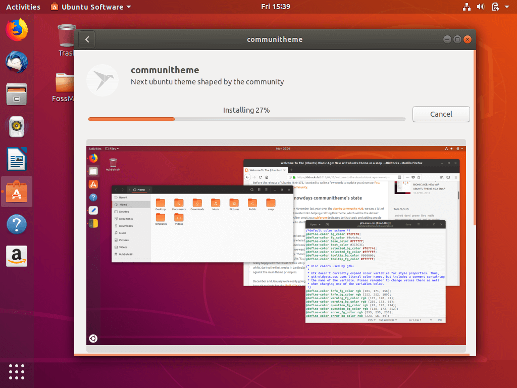 Ubuntu 18 04 LTS – My First Experience and Customization