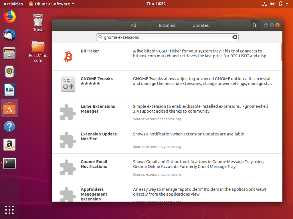 Install Gnome Extensions