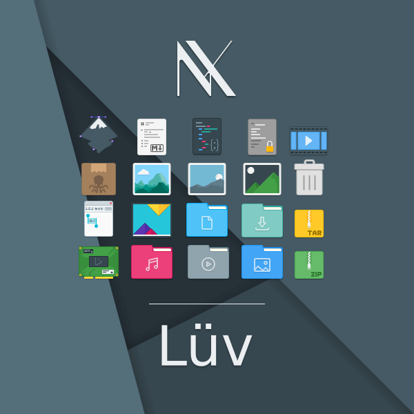 Luv Icon Theme for Linux