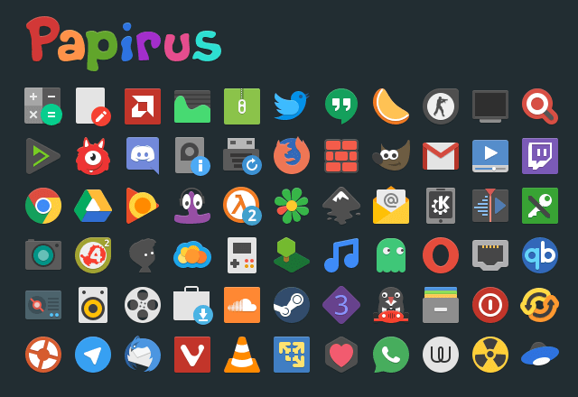 Papirus Icon Theme for Linux