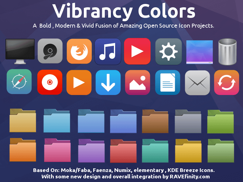 Vibrancy Colors Icon Theme