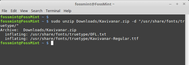 Install Custom Fonts in Ubuntu