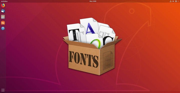 Install Fonts in Ubuntu Linux