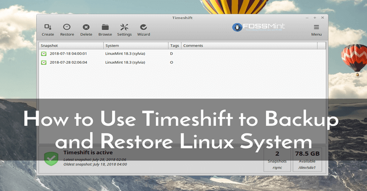 Timeshift to Backup and Restore Linux