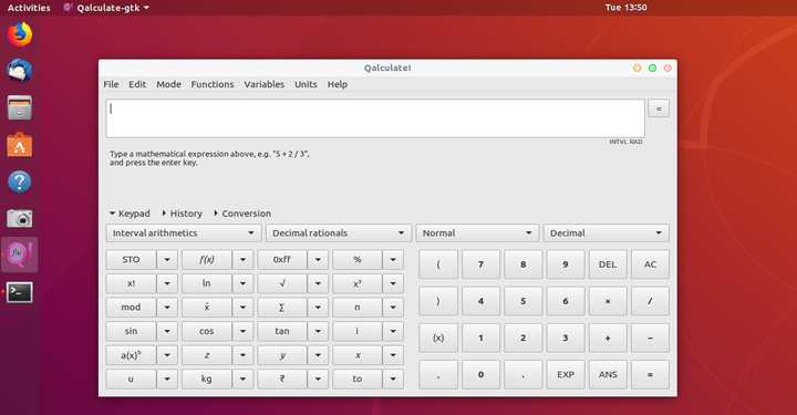 Qalculate Desktop Calculator for Linux