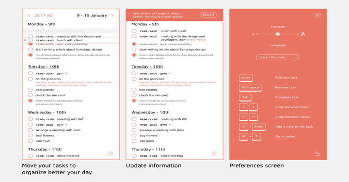 Copyu Weekly Task Planner and Timer