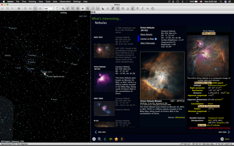 KStars - Astronomy Software