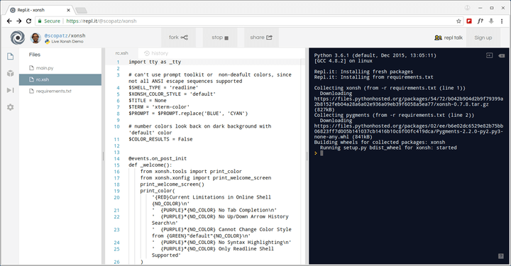 Xonsh - A Python-Powered Shell Language and Command Prompt