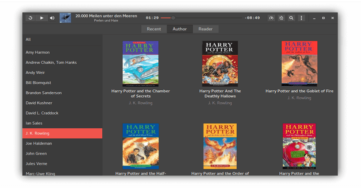 Cozy Audio Book Player for Linux