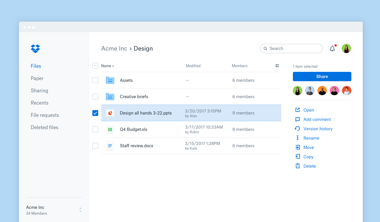 Dropbox Paper - Collaborative Workspace