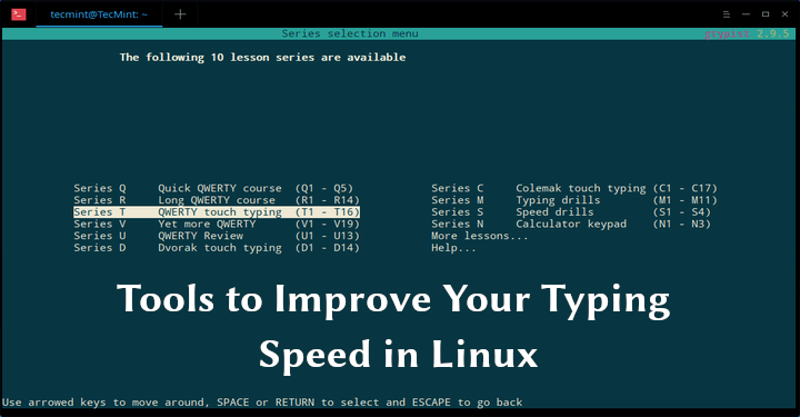Linux Typing Software