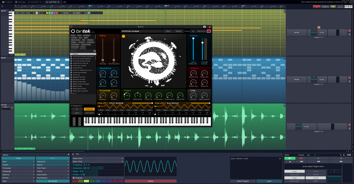 Tracktion Audio Workstation Software