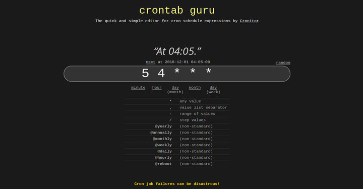 Cron Job Generator for Linux