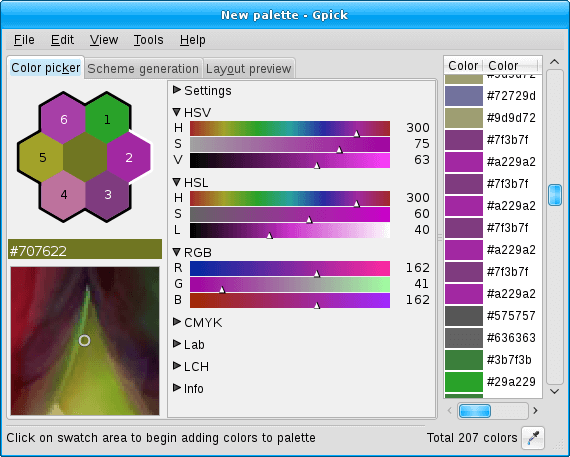 Gpick - An Advanced Color Picker
