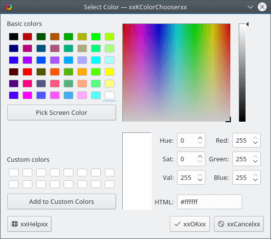 KColorChooser - Color Chooser