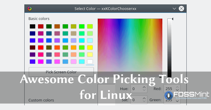 Linux Color Picking Tools