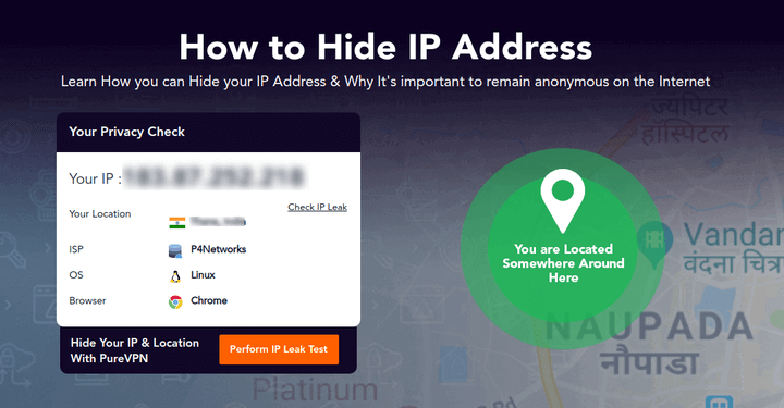 Hide IP Address Using VPN