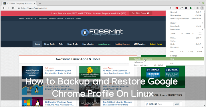 Backup and Restore Google Chrome Profile On Linux