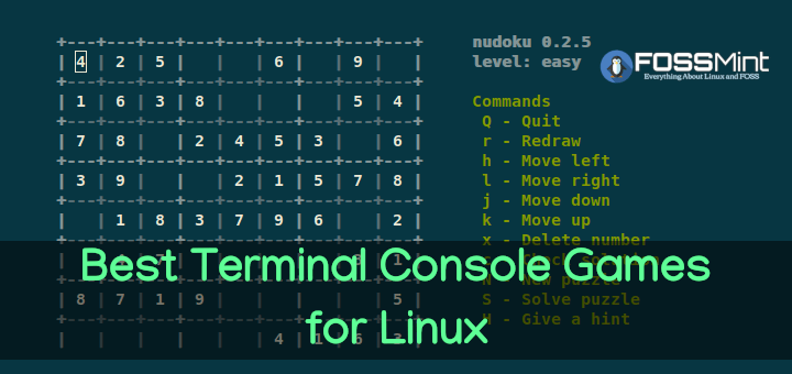 Best Linux Terminal Console Games