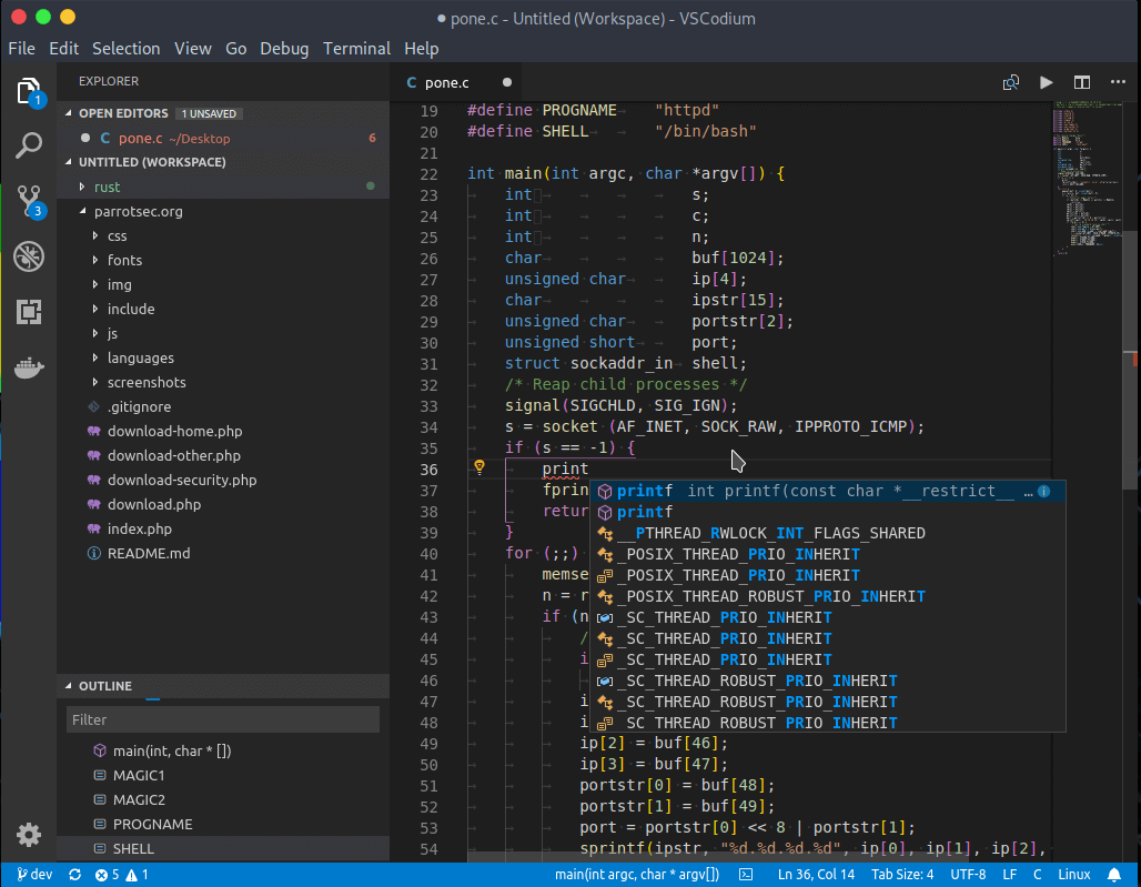 VSCodium - Clone of Microsoft's Visual Studio Code