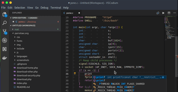 VSCodium - Clone of Visual Studio Code for Linux