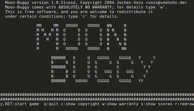 Moon Buggy cli Game
