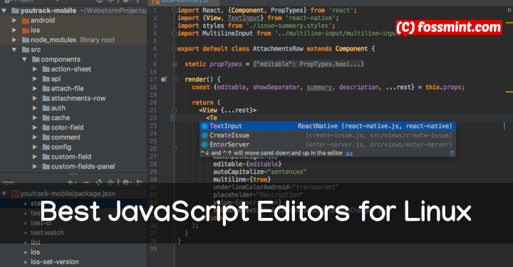 JavaScript Editors for Linux