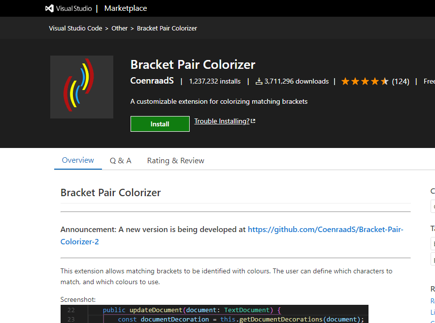 Bracket Pair Colorizer - VS Code Extension