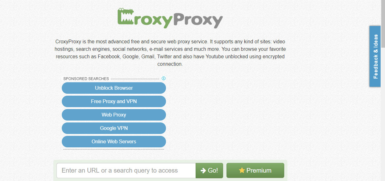Croxyproxy - Web Proxy Service