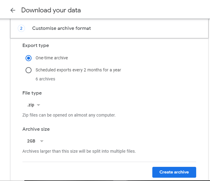 Download Your Gmail Data