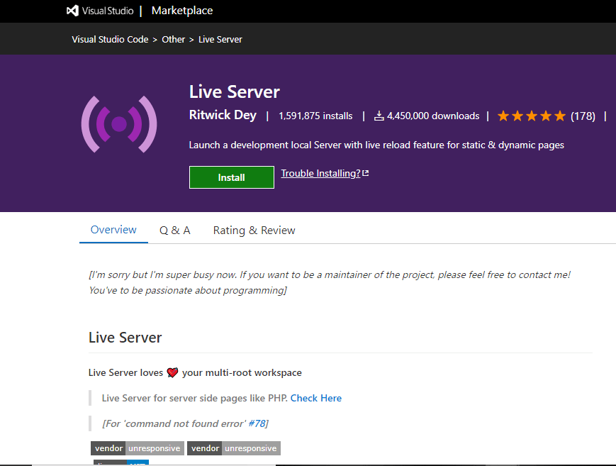 Live Serve - VS Code Extension