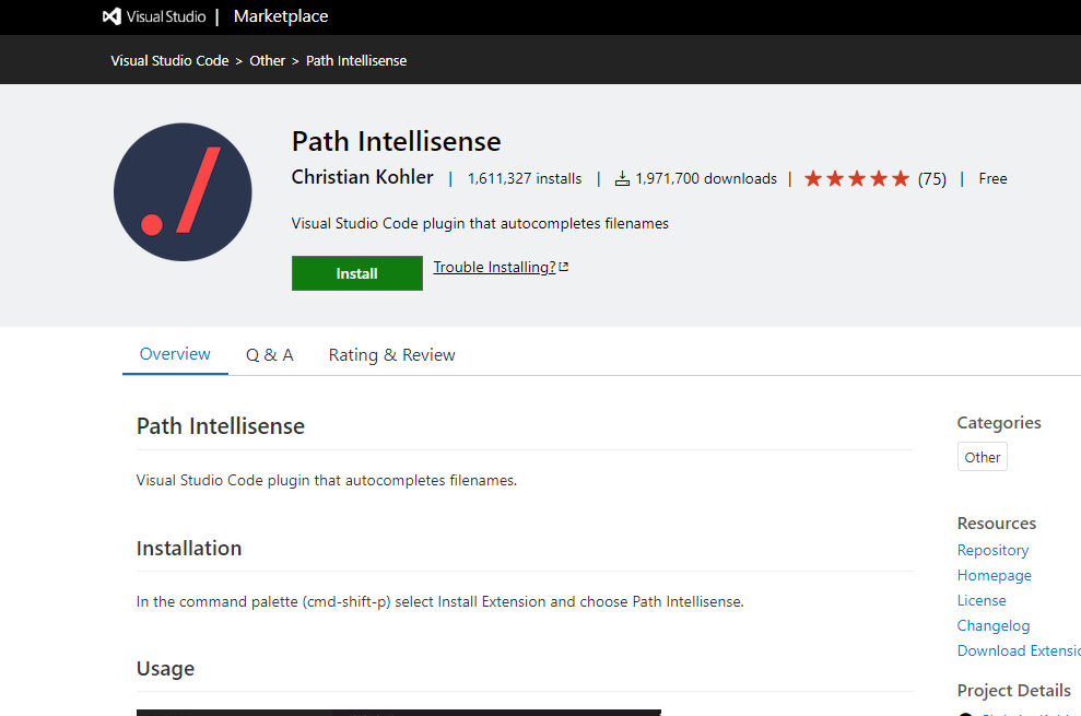 Path Intellisence - VS Code Extension