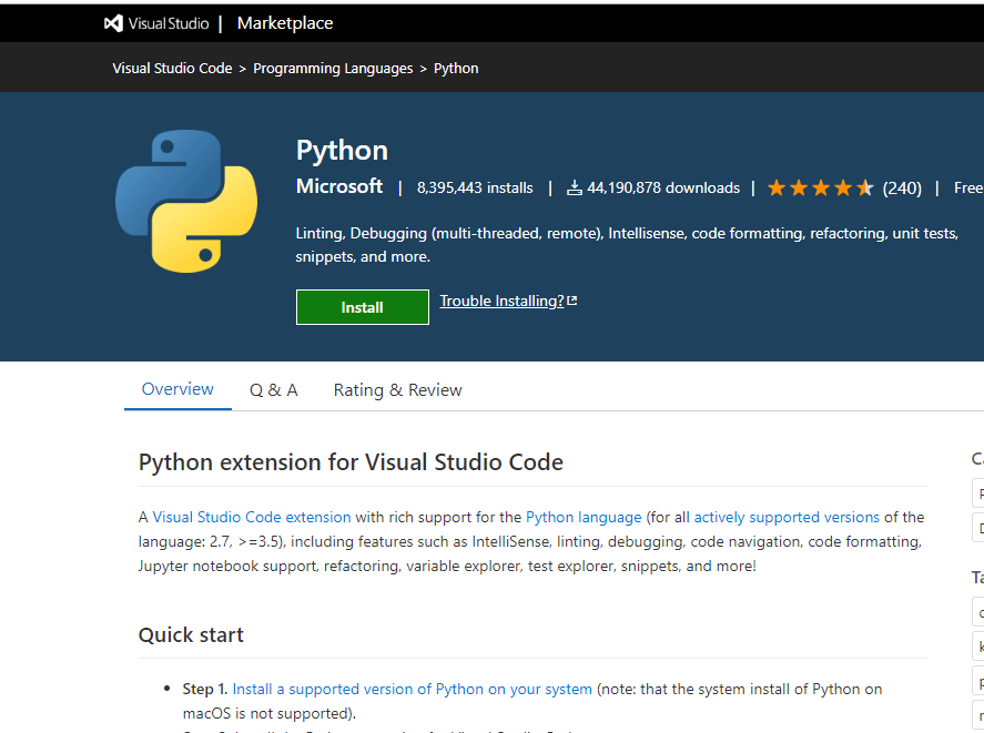Python - VS Code Extension