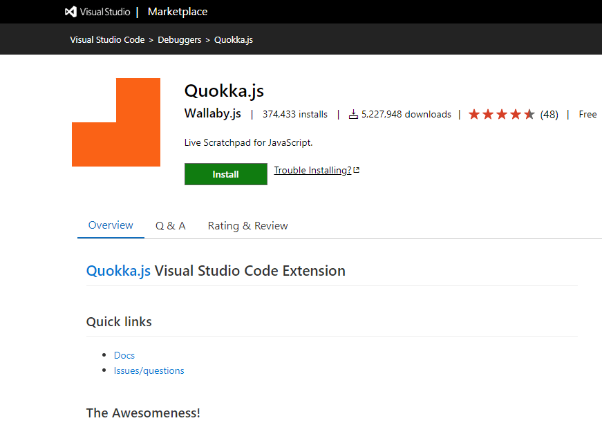 Quokka - VS Code Extension