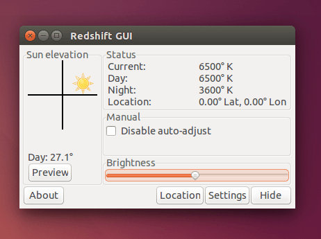 RedshiftGUI - Changes Color Temperature of Monitor