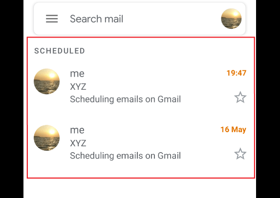 Scheduled Email-SmartPhone