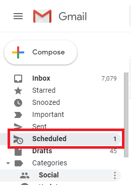 Scheduled Email