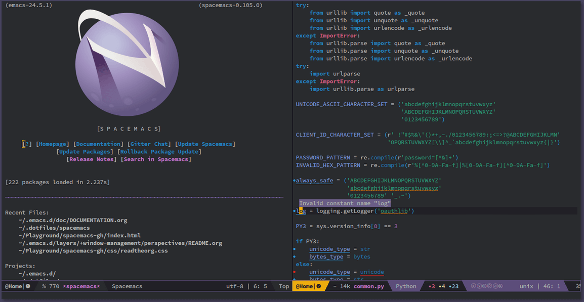 Spacemacs Code Editor