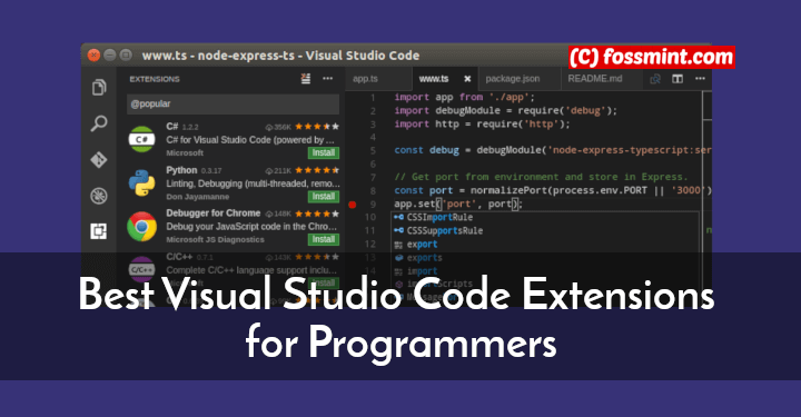 Visual Studio Code Extensions for Programmers