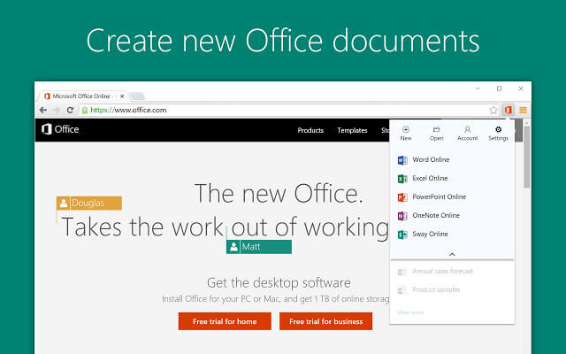 Office Online Chrome Extension