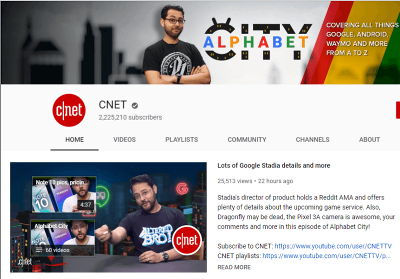 CNET - YouTube Channel