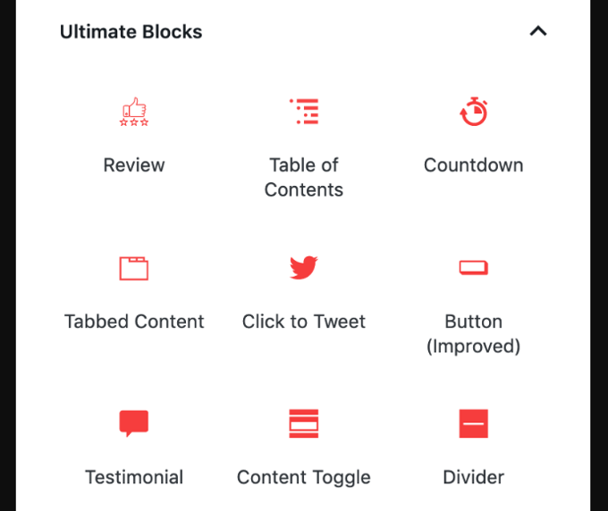 Gutenberg Blocks Plugin – Ultimate Blocks