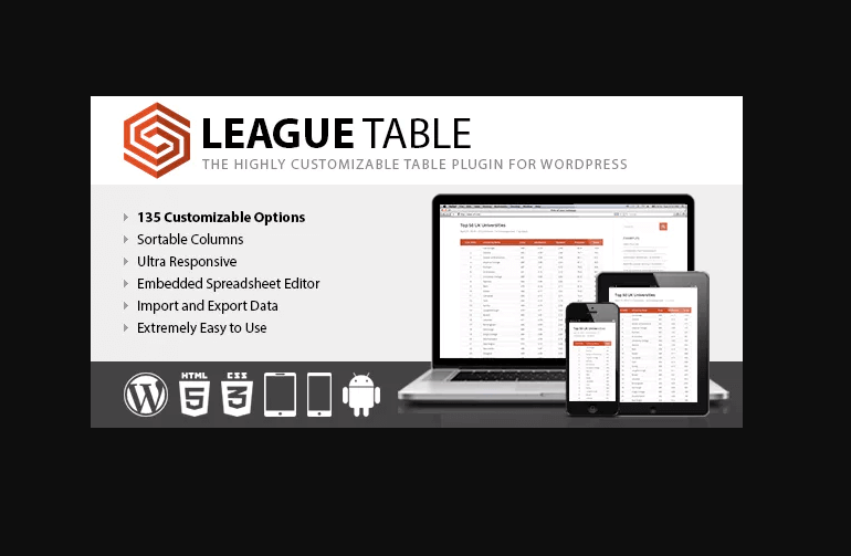 League Table Plugin