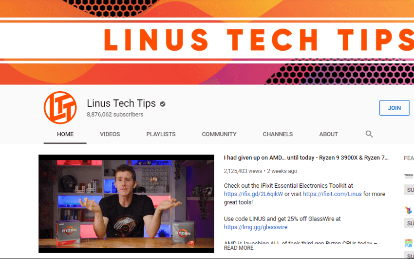 Linus- Tech Tips - YouTube Channel