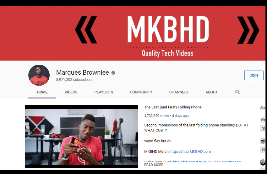 Marques Brownlee - YouTube Channel